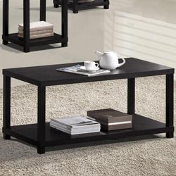 Wei Rectangle Coffee Table with Lower Shelf