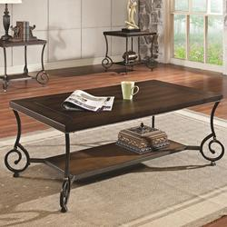 Maxson Transitional Coffee Table with Metal Legs