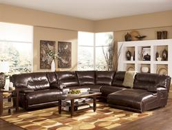 Exhilaration - Chocolate Contemporary Leather Sectional