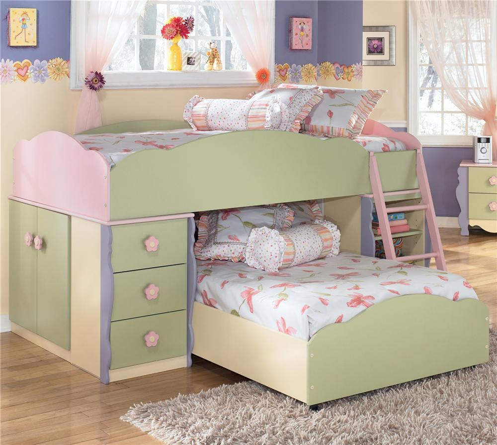 Loft Bed Signature Design By Ashley Lulu Twin Loft Bed With Twin Bed Mattress Sale