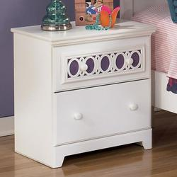 Zayley 2-Drawer Night Stand with Customizable Color Panel