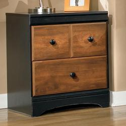 Aimwell Two Drawer Night Stand in Two-Tone Finish