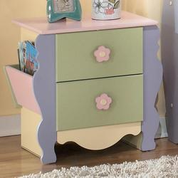 Doll House Magazine Night Stand with 2 Drawers and 2 Magazine Racks