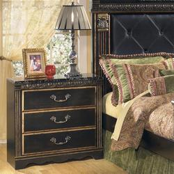 Coal Creek 3 Drawer Night Stand with Faux Marble Top