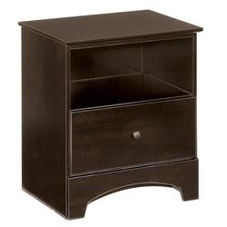 Kendi Single Drawer Nightstand with Open Storage Area