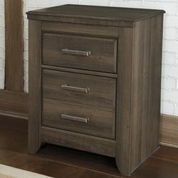 Juararo 2-Drawer Night Stand with Pewter Accent Hardware