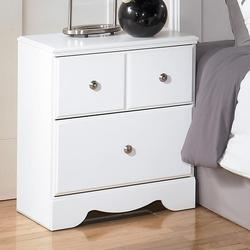 Weeki Contemporary 2 Drawer Night Stand