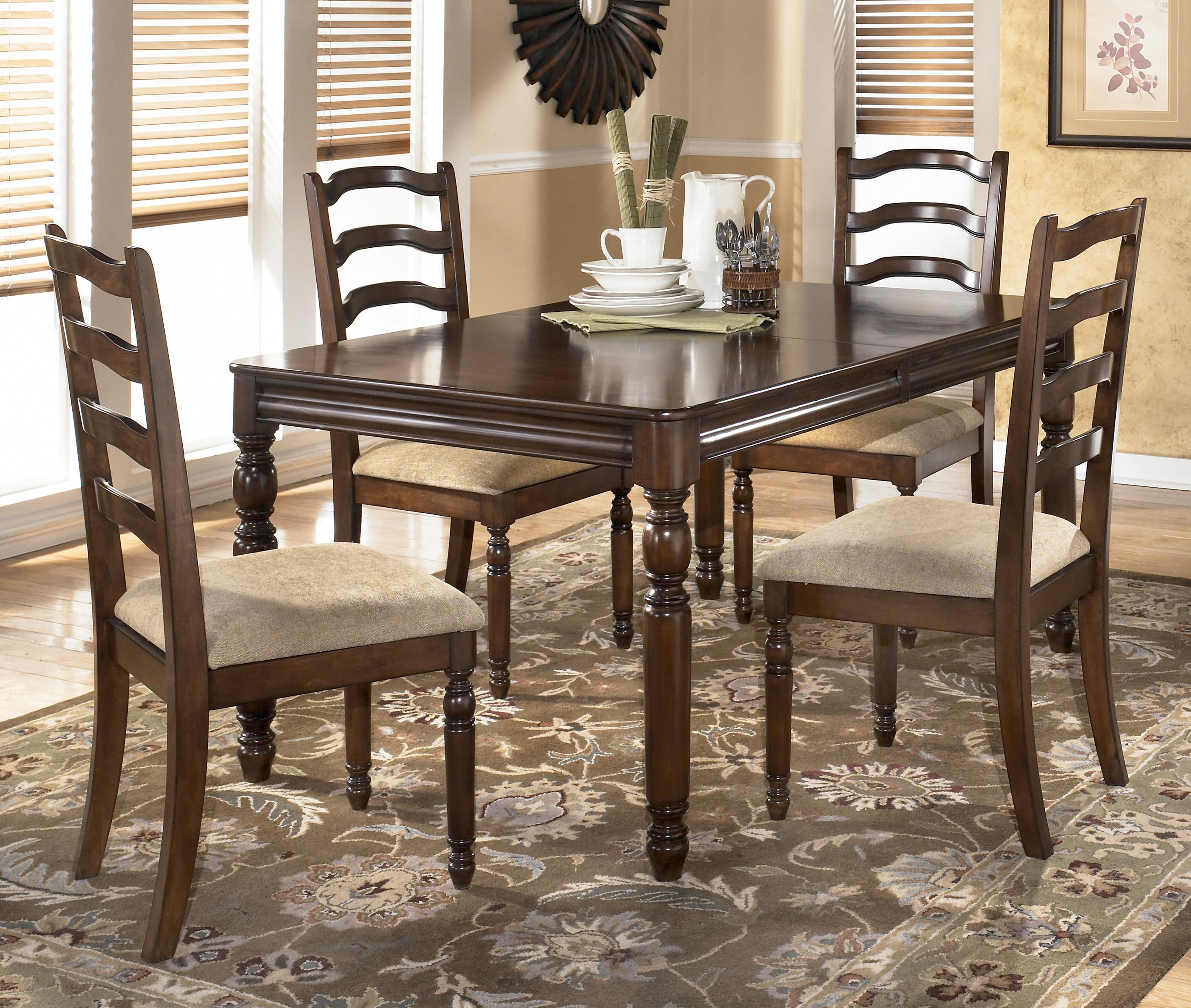 Rectangular dining room counter table set by ashley for Ashley furniture dinette sets