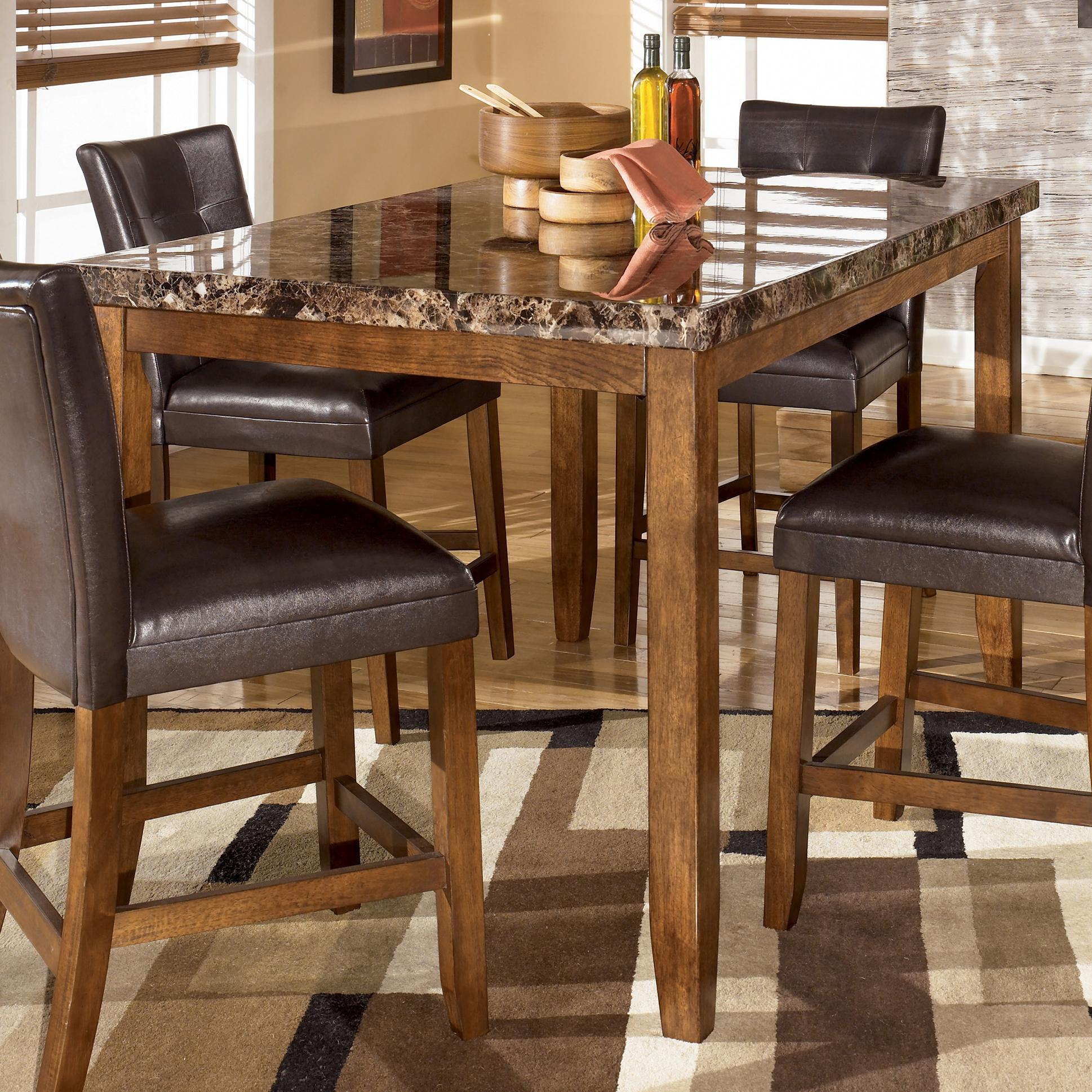 Lacey rectangular counter height table from signature design by ashley beverly hills furniture - Ashley kitchen tables ...