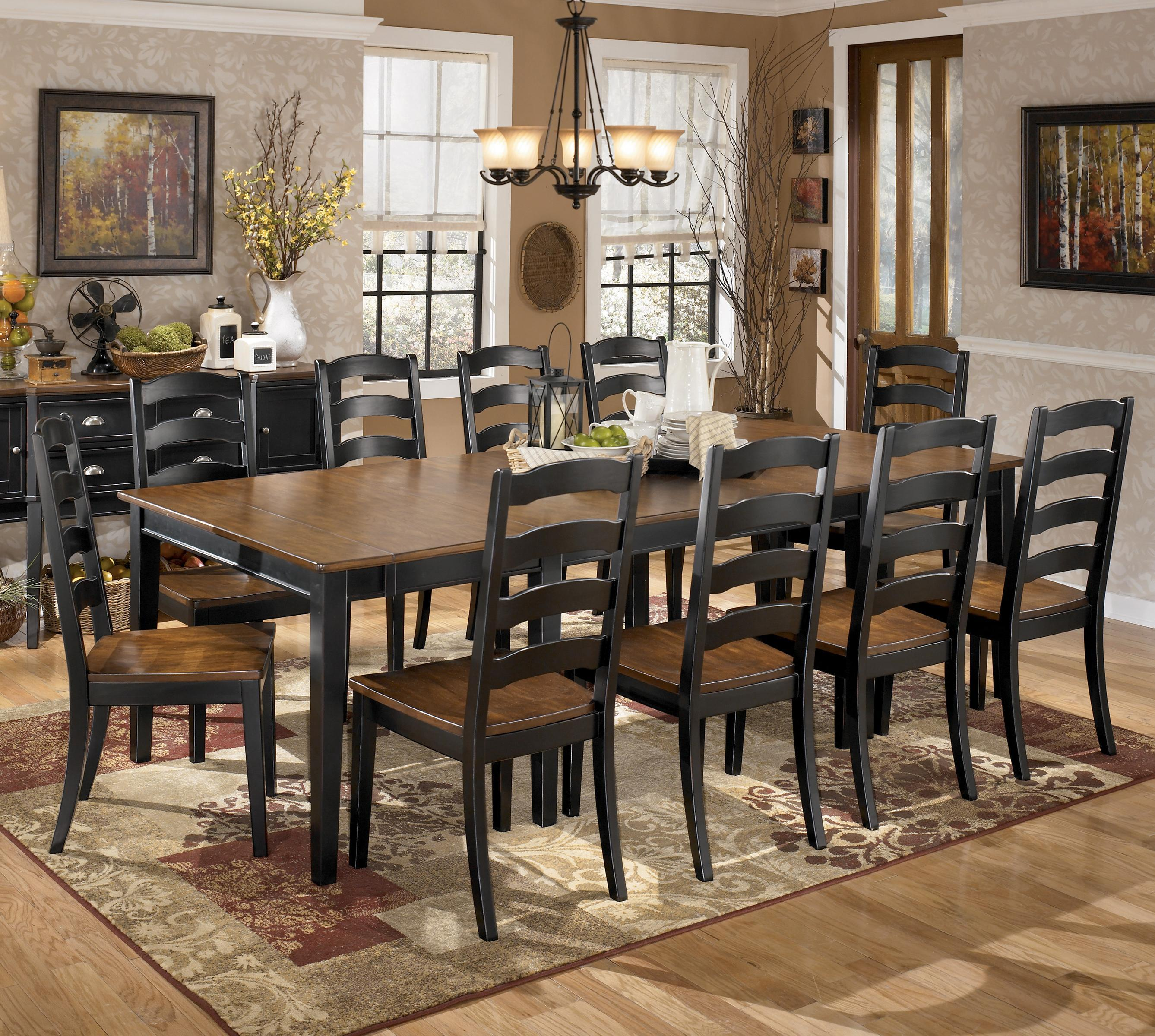 ashley dining room furniture tables china and server cabinets