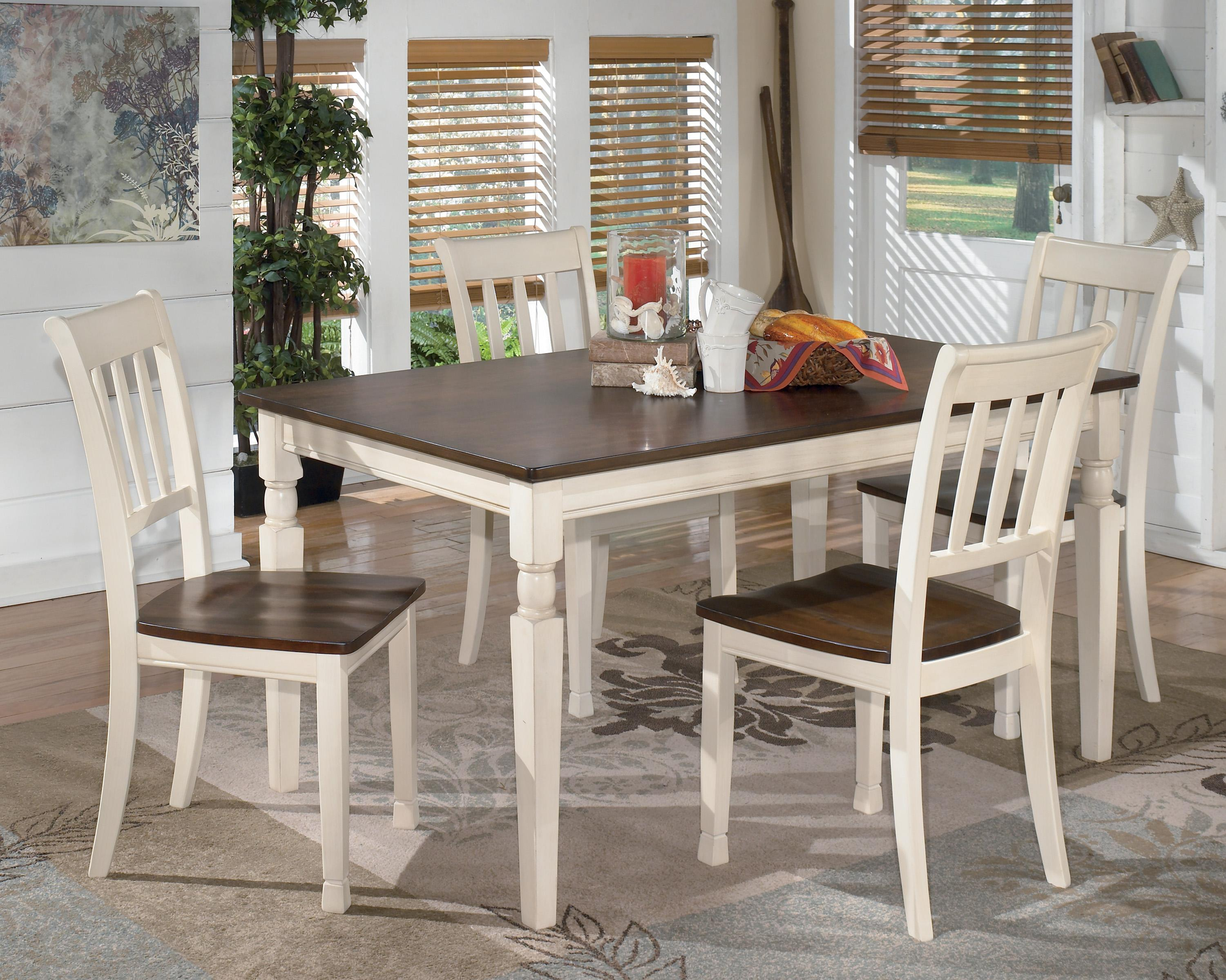 Design By Ashley Whitesburg 5 Piece Rectangular Dining Table Set