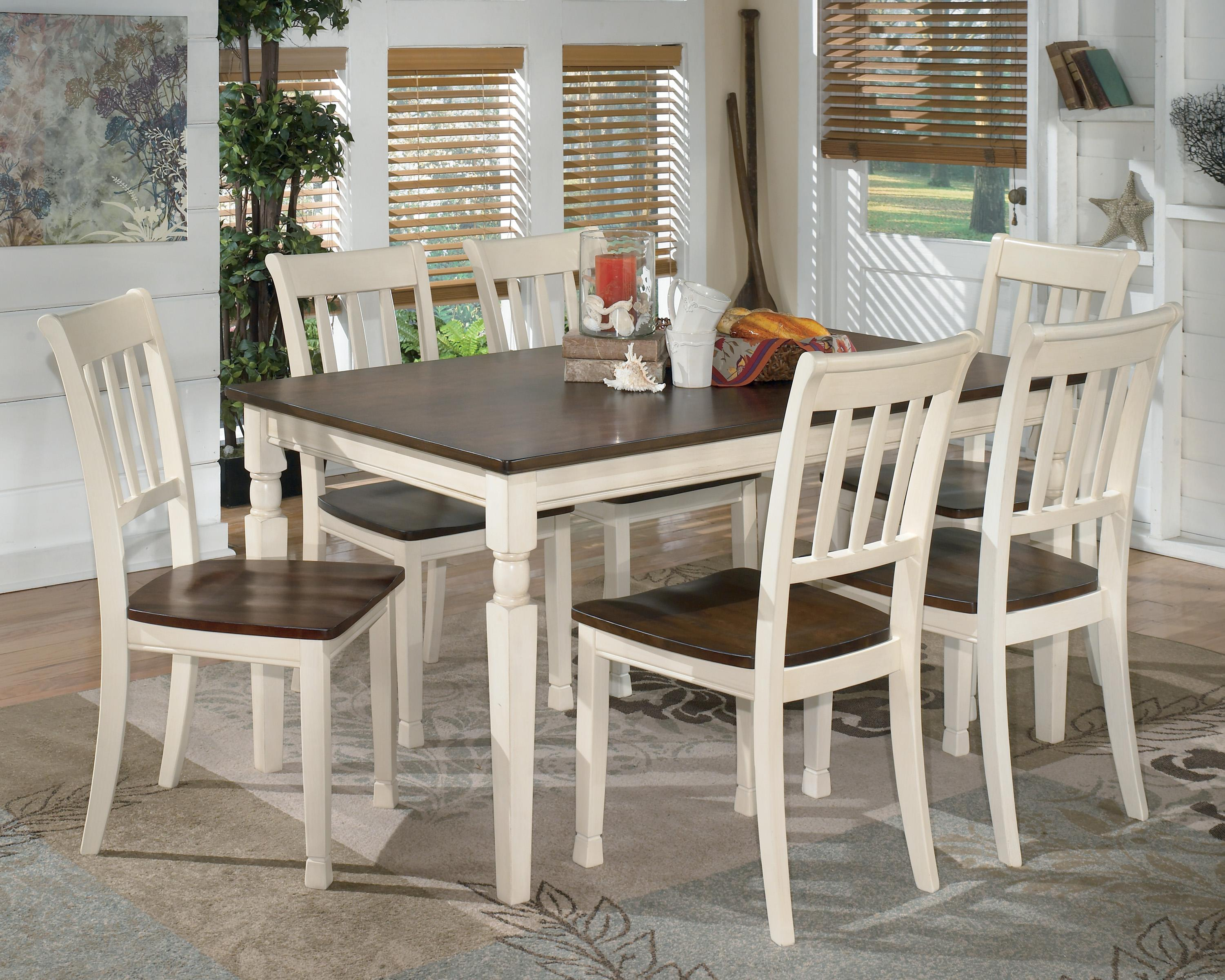 Whitesburg 7 Piece Rectangular Dining Table Set From Signature Design