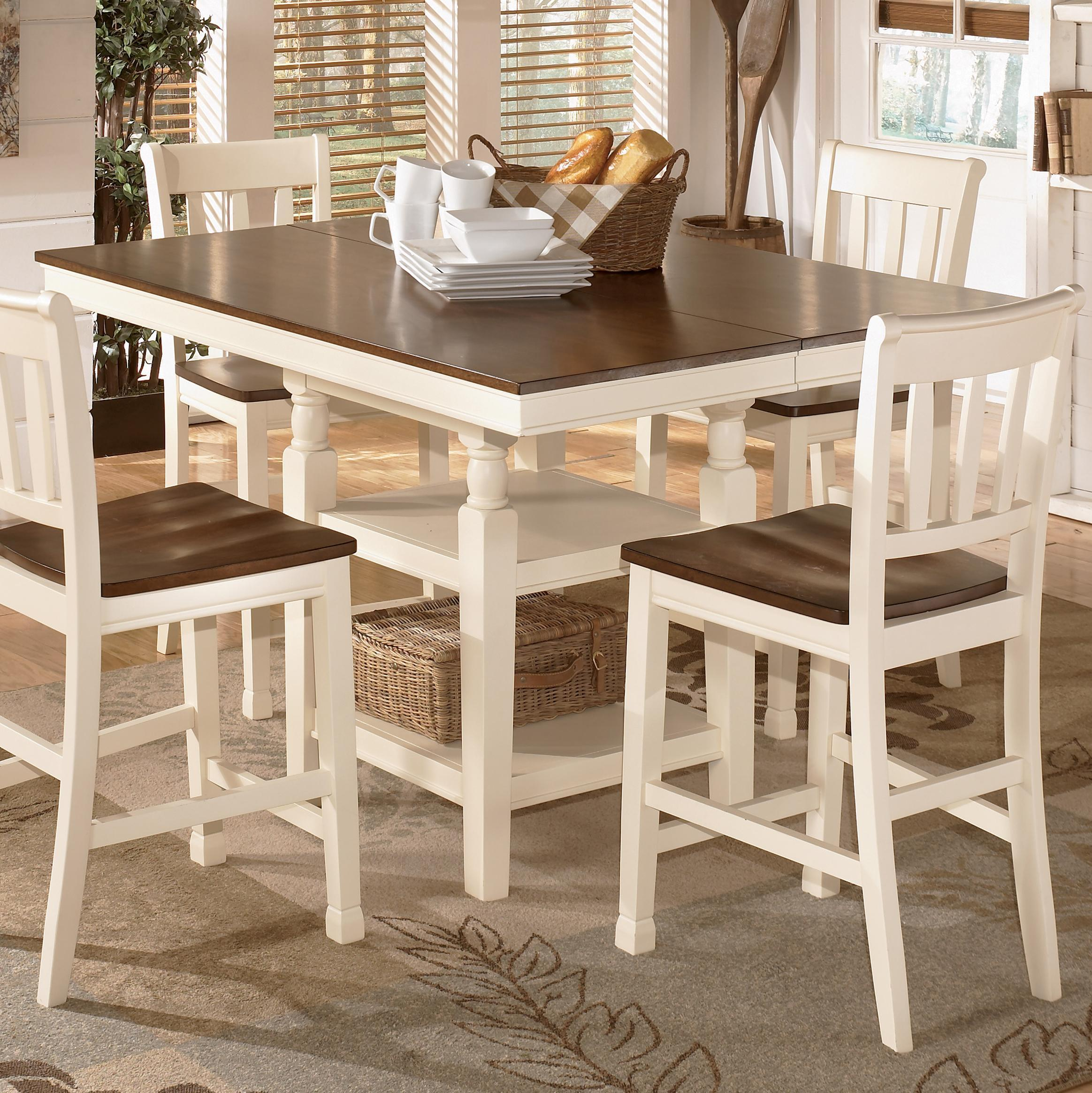Home Whitesburg Square Dining Room Counter Extension Table With