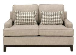 Donella - Barley Contemporary Loveseat with Track Arms
