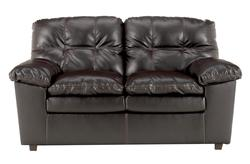 Jordon DuraBlend - Java Stationary Leather Loveseat