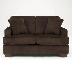 Atmore - Chocolate Loveseat with Corded Microfiber Upholstery