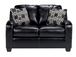 Devin DuraBlend - Black Stationary Leather Loveseat