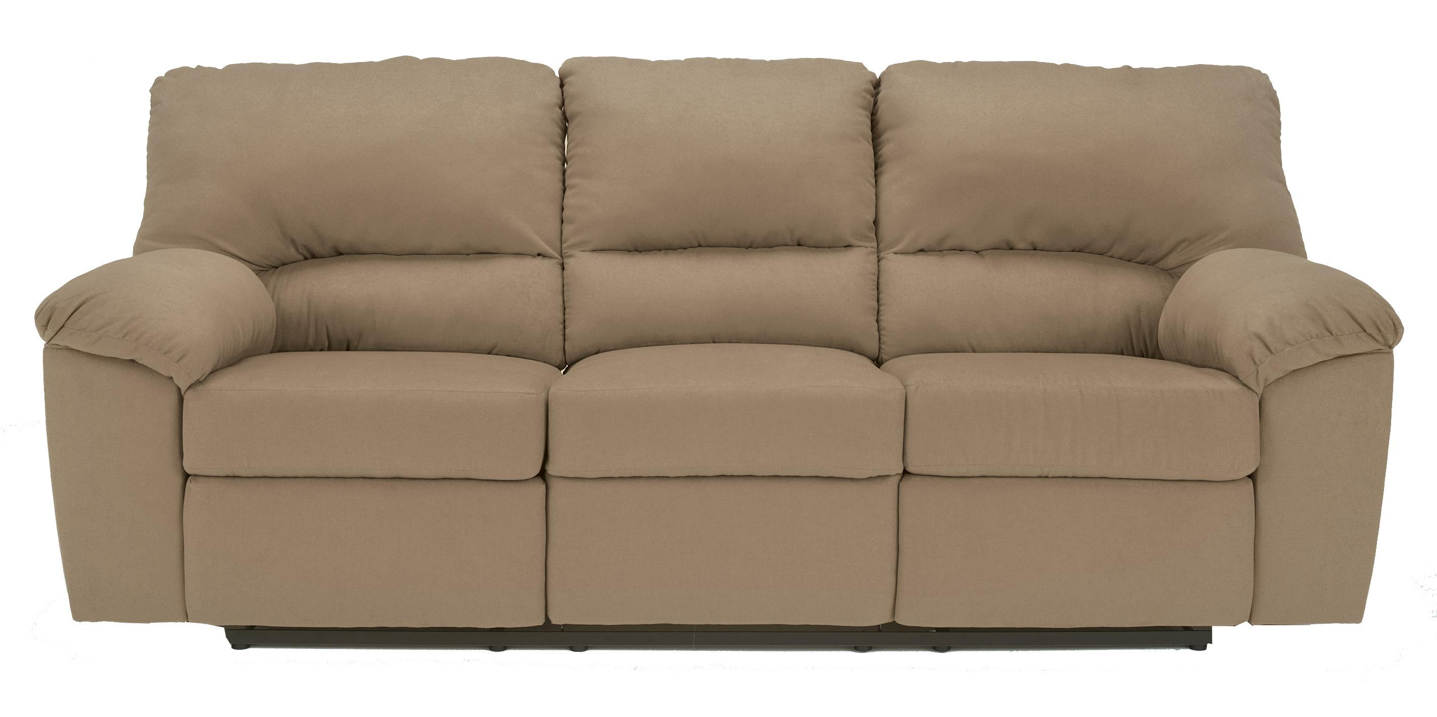 Kickoff Mocha Contemporary Reclining Sofa With Pillow Arms