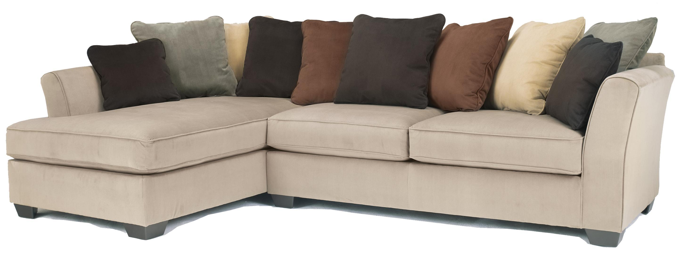 Laken 2 piece mocha sectional with left chaise from for 2 piece sectional sofa ashley