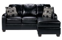 Devin DuraBlend - Black Sofa Chaise Queen Sleeper
