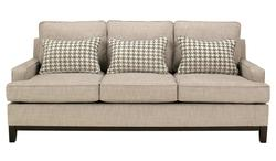 Donella - Barley Contemporary Sofa with Track Arms