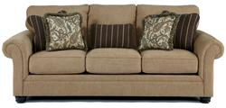 Davora - Caramel Traditional Sofa with Rolled Arms