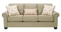 Lucretia - Sand Casual Roll Arm Sofa w/ Throw Pillows