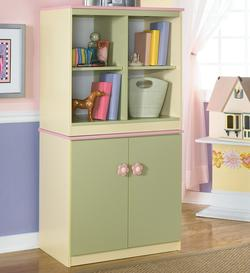 Doll House Loft Bin & Door Storage Cabinet