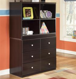 Embrace 6 Drawer Chest and Open Bookcase