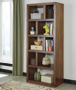 Lobink Contemporary Open Bookcase with Asymmetrical Shelves