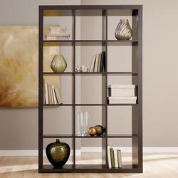 Honolulu - Espresso Fifteen Cube Bookcase - Horizontal/Vertical