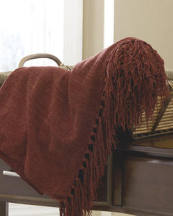 Revere Burgundy Throw (3/CS)