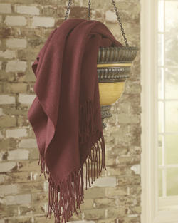 Ashton Burgundy Throw (3/CS)