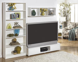 Honolulu White Extra Large Bookcase