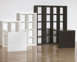 Honolulu White Six Cube Bookcase