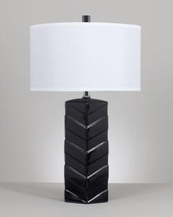 Ramla Black Ceramic Table Lamp (2/CN)