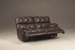 Rashane Durablend® Saddle Reclining Power Loveseat