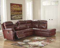 Primematic Durablend® Crimson LAF DBL Reclining PWR Loveseat