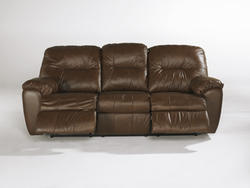 Rossano Brown Reclining Sofa