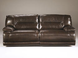 Exhilaration - Chocolate Reclining 2-Seat Leather Sofa