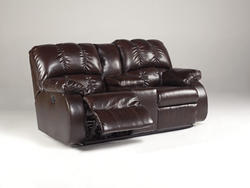 Knockout Durablend® Redwood GLDR REC PWR Loveseat w/Consol