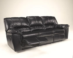Durablend® Black Reclining Sofa