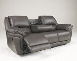 Magician Durablend® Slate Reclining Sofa w/ Drop Down Table & Massage