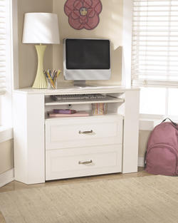 Lulu Corner Desk Media Unit